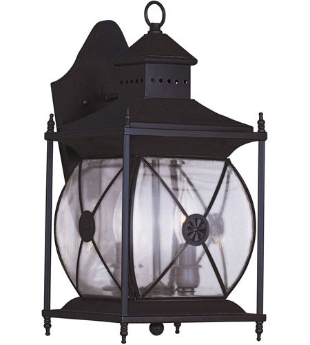 Livex 2092-07 Providence 2 Light 16 inch Bronze Outdoor Wall Lantern photo