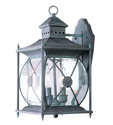 Livex Lighting Providence 2 Light Outdoor Wall Lantern in Charcoal 2092-61 photo
