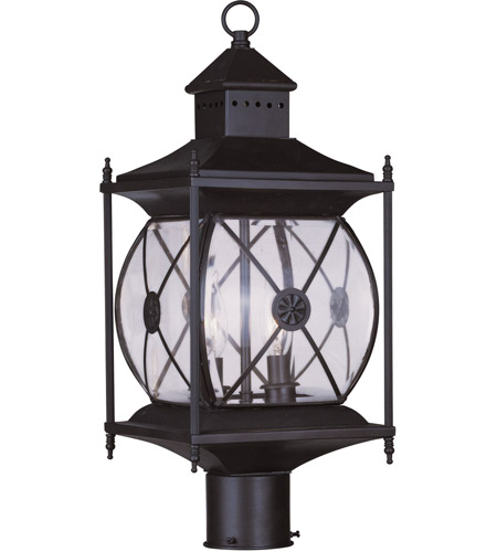 Livex Lighting Providence 2 Light Outdoor Post Head in Bronze 2094-07 photo