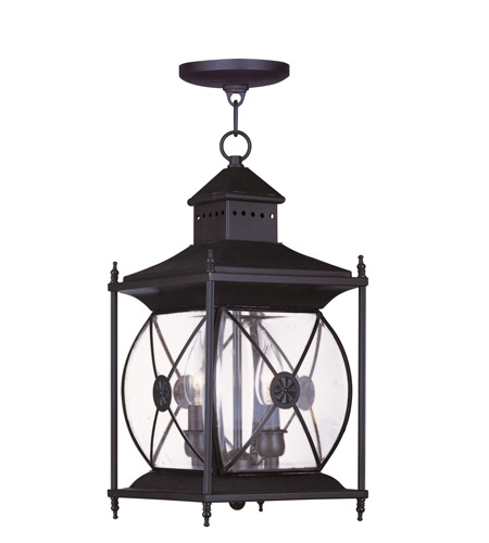 Livex Lighting Providence 2 Light Outdoor Hanging Lantern in Bronze 2095-07 photo