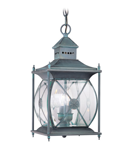 Livex 2095-61 Providence 2 Light 8 inch Charcoal Outdoor Hanging Lantern photo