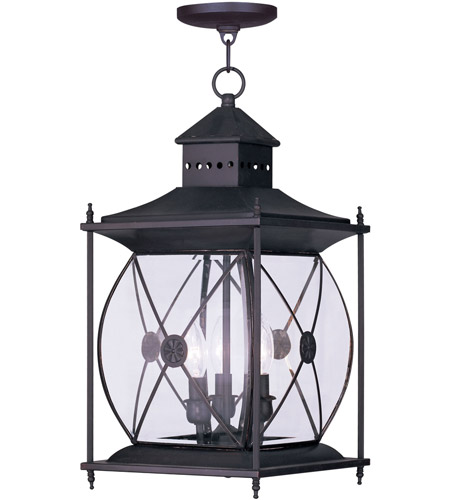 Livex 2097-07 Providence 3 Light 10 inch Bronze Outdoor Hanging Lantern photo