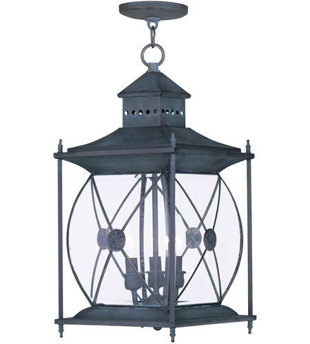 Livex Lighting Providence 3 Light Outdoor Hanging Lantern in Charcoal 2097-61 photo