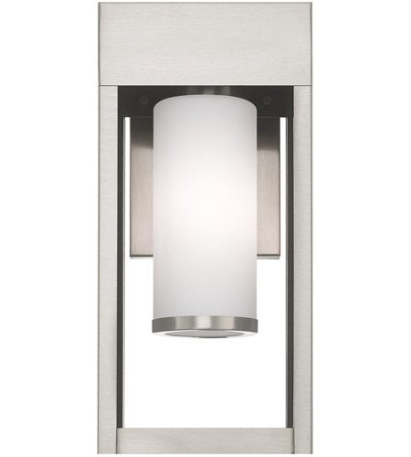 Livex 20982-91 Bleecker 1 Light 14 inch Brushed Nickel Wall Lantern alternative photo thumbnail
