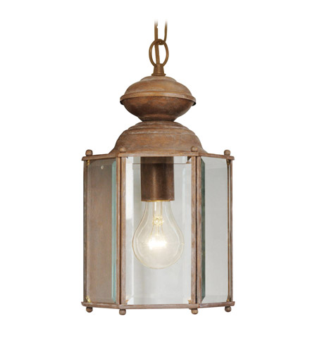Livex Lighting Outdoor Basics 1 Light Outdoor Hanging Lantern in Weathered Brick 2116-18 photo