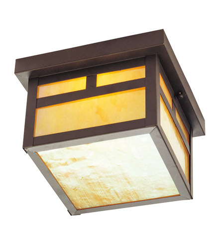 Livex 2138-07 Montclair Mission 1 Light 8 inch Bronze Outdoor Ceiling Mount photo
