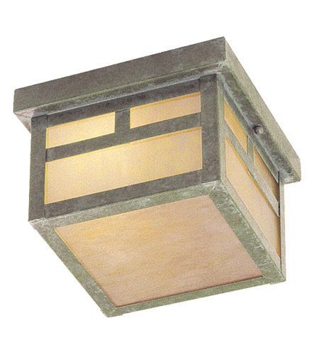 Livex Lighting Montclair Mission 2 Light Outdoor Ceiling Mount in Verde Patina 2139-16 photo