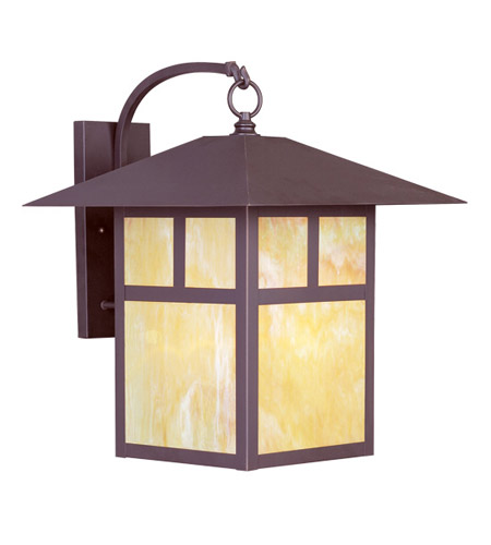 Livex 2143-07 Montclair Mission 1 Light 21 inch Bronze Outdoor Wall Lantern photo