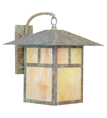 Livex Lighting Montclair Mission 1 Light Outdoor Wall Lantern in Verde Patina 2143-16 photo