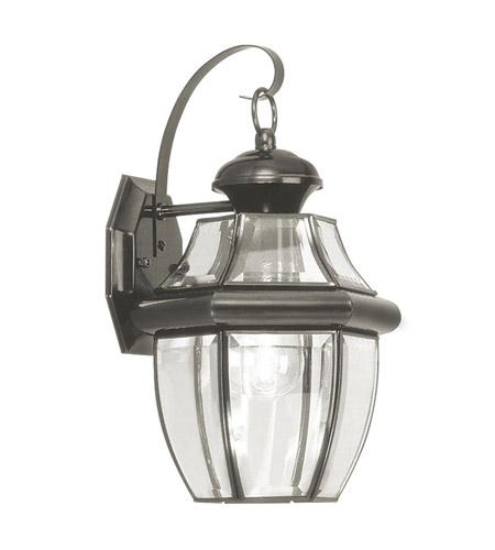Livex Lighting Monterey 1 Light Outdoor Wall Lantern in Black 2151-04 photo