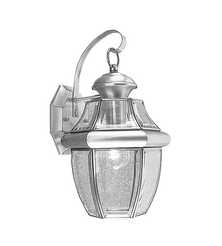 Livex 2151-91 Monterey 1 Light 13 inch Brushed Nickel Outdoor Wall Lantern photo