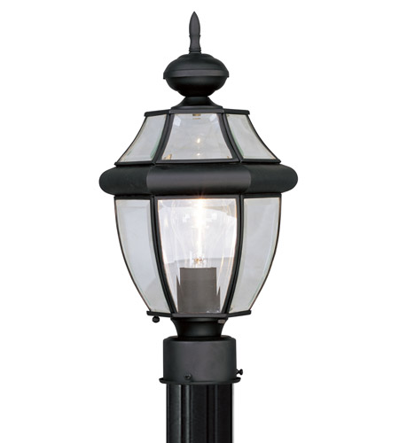 Livex Lighting Monterey 1 Light Outdoor Post Head in Black 2153-04 photo