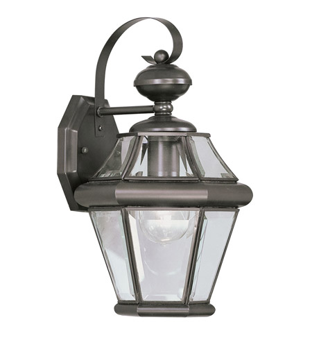 Livex 2161-07 Georgetown 1 Light 15 inch Bronze Outdoor Wall Lantern photo