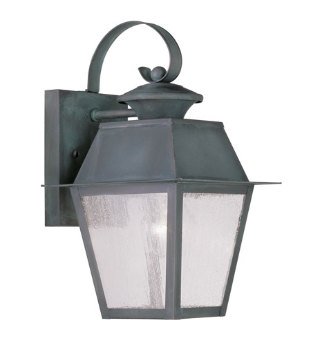 Livex 2162-61 Mansfield 1 Light 13 inch Charcoal Outdoor Wall Lantern photo