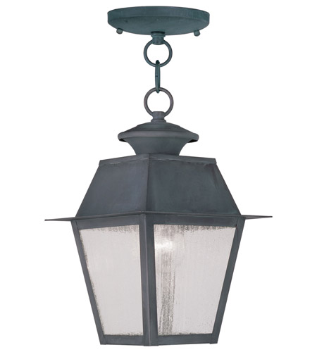 Livex Lighting Mansfield 1 Light Outdoor Hanging Lantern in Charcoal 2164-61 photo