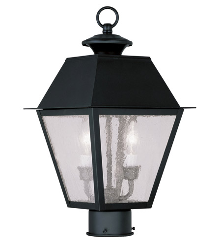 Livex 2166-04 Mansfield 2 Light 17 inch Black Outdoor Post Head  photo