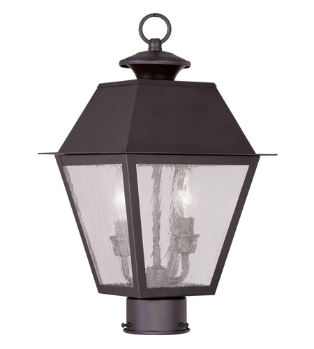 Livex 2166-07 Mansfield 2 Light 17 inch Bronze Outdoor Post Head photo