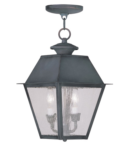 Livex 2167-61 Mansfield 2 Light 9 inch Charcoal Outdoor Hanging Lantern photo