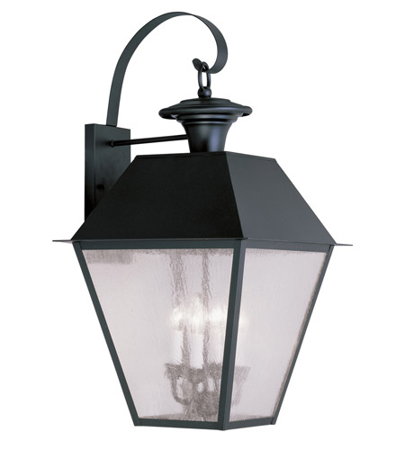 Livex Lighting Mansfield 4 Light Outdoor Wall Lantern in Black 2172-04 photo