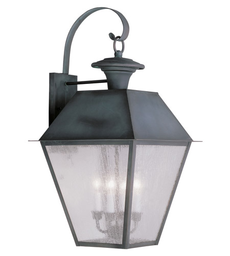 Livex Lighting Mansfield 4 Light Outdoor Wall Lantern in Charcoal 2172-61 photo