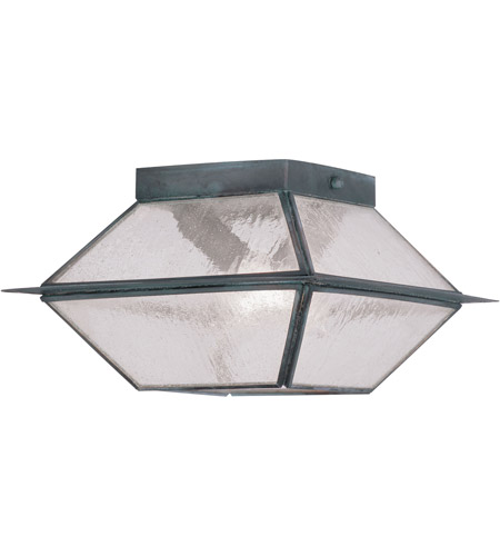Livex 2175-61 Mansfield 2 Light 9 inch Charcoal Outdoor Ceiling Mount photo