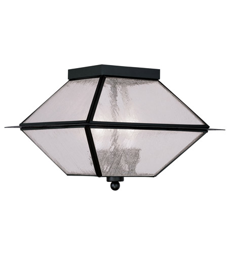 Livex 2176-04 Mansfield 3 Light 12 inch Black Outdoor Ceiling Mount photo