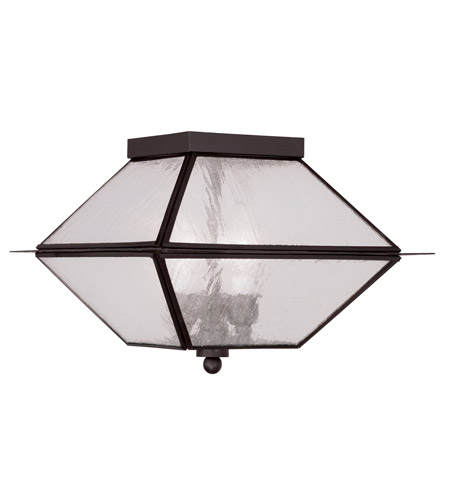 Livex 2176-07 Mansfield 3 Light 12 inch Bronze Outdoor Ceiling Mount photo