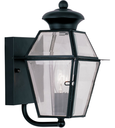 Livex 2180-04 Westover 1 Light 9 inch Black Outdoor Wall Lantern photo