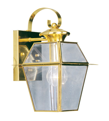 Livex Lighting Westover 1 Light Outdoor Wall Lantern in Polished Brass 2181-02 photo