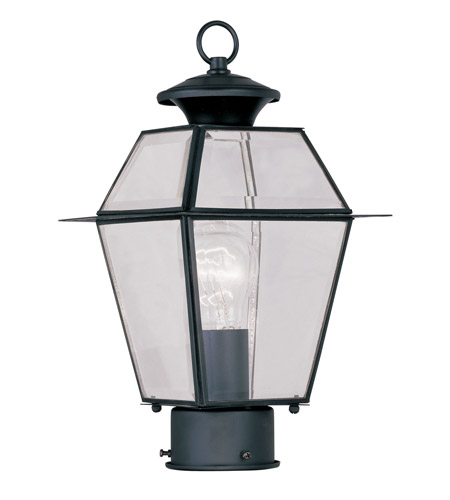 Livex Lighting Westover 1 Light Outdoor Post Head in Black 2182-04 photo
