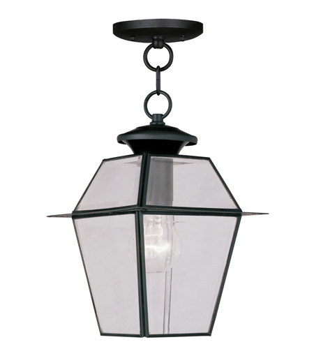 Livex 2183-04 Westover 1 Light 8 inch Black Outdoor Hanging Lantern photo