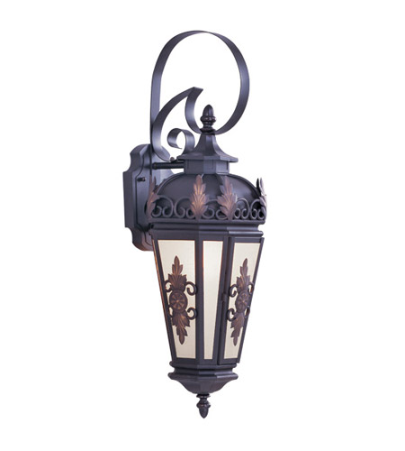 Livex Lighting Berkshire 1 Light Outdoor Wall Lantern in Bronze 2192-07 photo