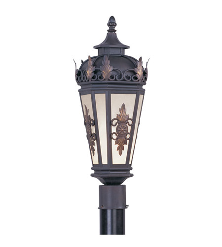 Livex Lighting Berkshire 1 Light Outdoor Post Head in Bronze 2194-07 photo