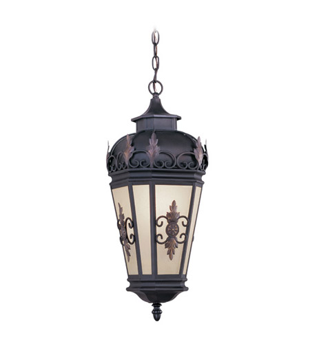 Livex Lighting Berkshire 1 Light Outdoor Hanging Lantern in Bronze 2195-07 photo