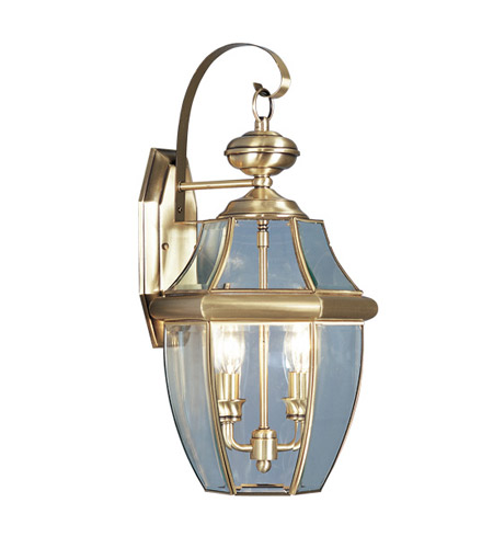 Livex 2251-01 Monterey 2 Light 20 inch Antique Brass Outdoor Wall Lantern photo