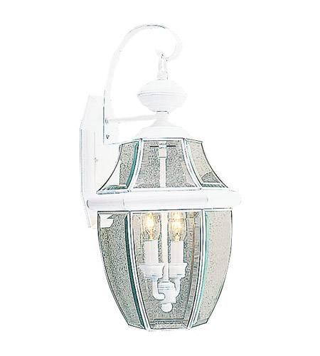 Livex Lighting Monterey 2 Light Outdoor Wall Lantern in White 2251-03 photo