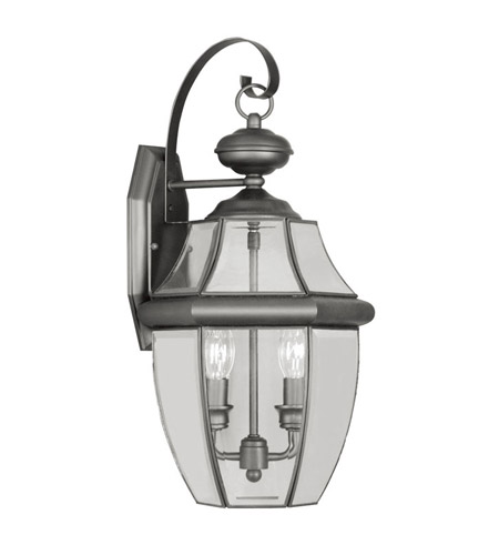 Livex Lighting 2251 04 Monterey 2 Light 20 Inch Black Outdoor Wall Lantern