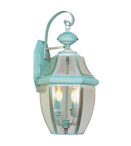 Livex 2251-06 Monterey 2 Light 20 inch Verdigris Outdoor Wall Lantern photo