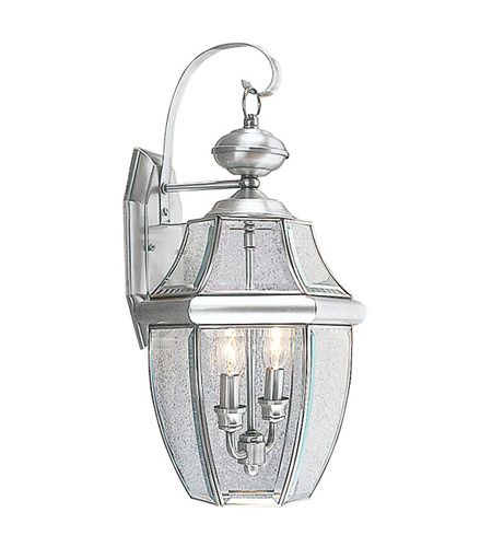 Livex 2251-91 Monterey 2 Light 20 inch Brushed Nickel Outdoor Wall Lantern photo