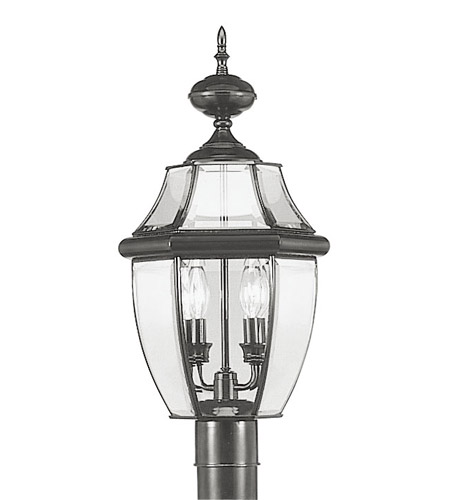 Livex Lighting Monterey 2 Light Outdoor Post Head in Black 2254-04 photo