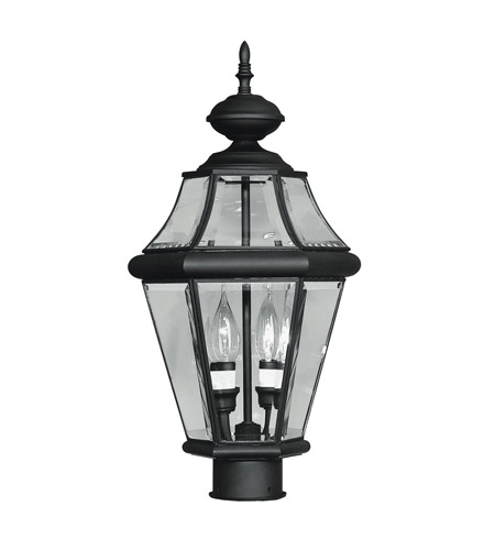 Livex 2264-04 Georgetown 2 Light 21 inch Black Outdoor Post Head photo