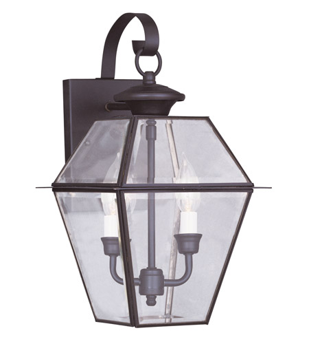 Livex 2281-07 Westover 2 Light 17 inch Bronze Outdoor Wall Lantern photo