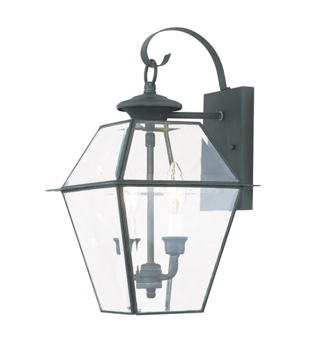 Livex 2281-61 Westover 2 Light 17 inch Charcoal Wall Lantern photo