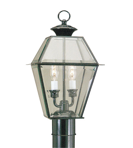 Livex Lighting Westover 2 Light Outdoor Post Head in Black 2284-04 photo