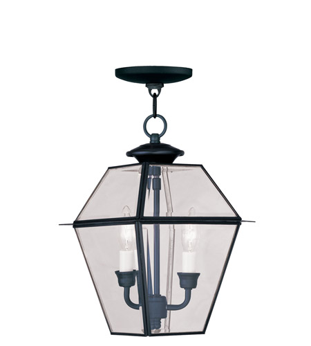 Livex 2285-04 Westover 2 Light 9 inch Black Outdoor Hanging Lantern photo