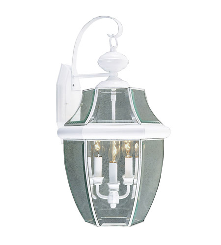 Livex 2351-03 Monterey 3 Light 23 inch White Outdoor Wall Lantern photo