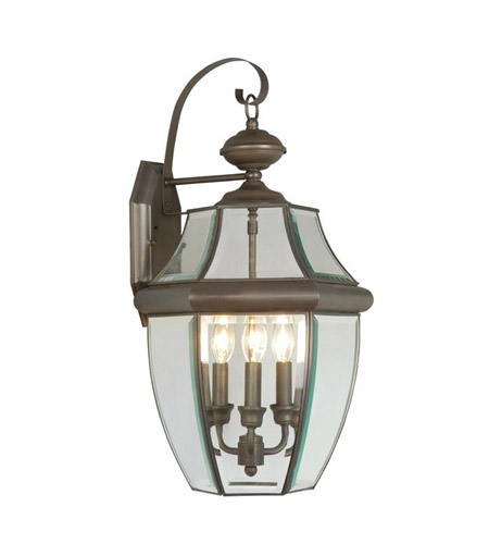 Livex 2351-07 Monterey 3 Light 23 inch Bronze Outdoor Wall Lantern photo