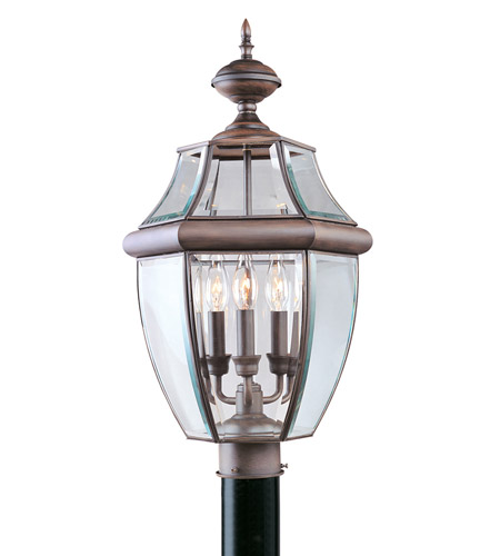 Livex Lighting Monterey 3 Light Outdoor Post Head in Imperial Bronze 2354-58 photo