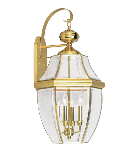 Livex Lighting Monterey 4 Light Outdoor Wall Lantern in Polished Brass 2356-02 photo