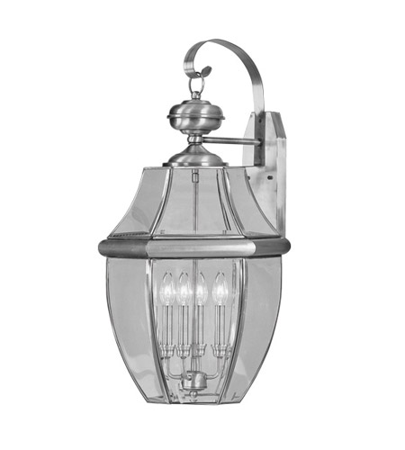 Livex 2356-91 Monterey 4 Light 30 inch Brushed Nickel Outdoor Wall Lantern photo